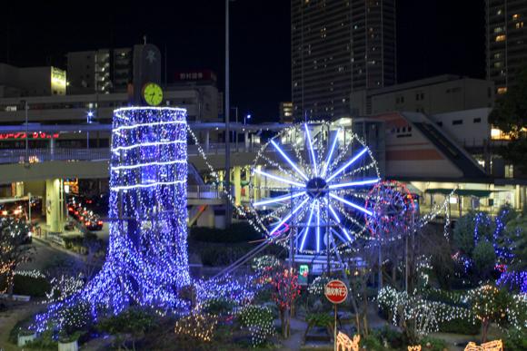 JR高槻駅前のイルミネーション2015